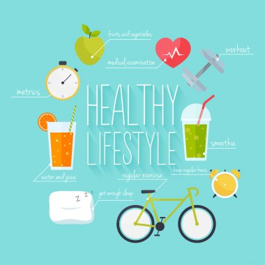 healthy lifestyle info graphics