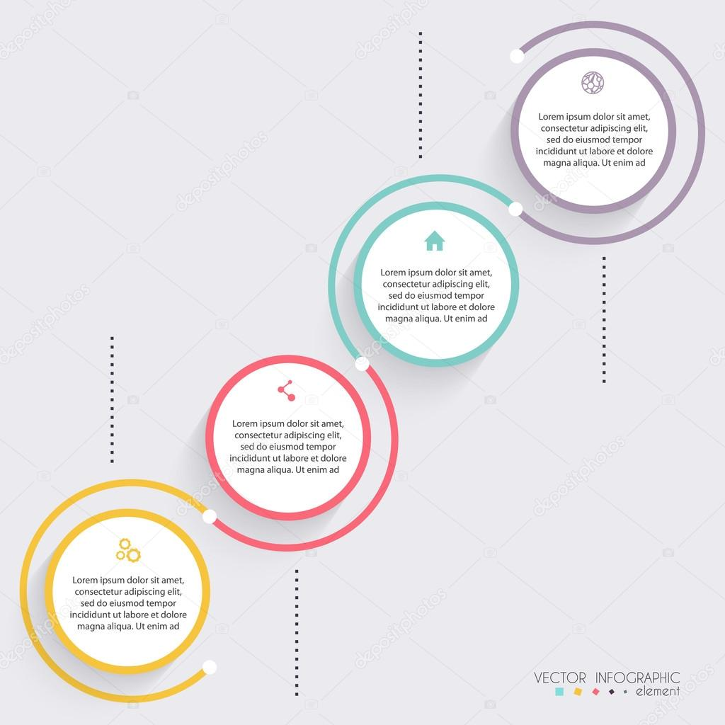 c9fbc4d71bfc2 Infografías para presentaciones de negocios — Vector de stock