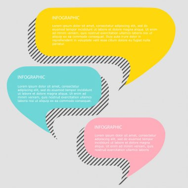 colorful trendy infographics