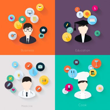 People professions concept icons