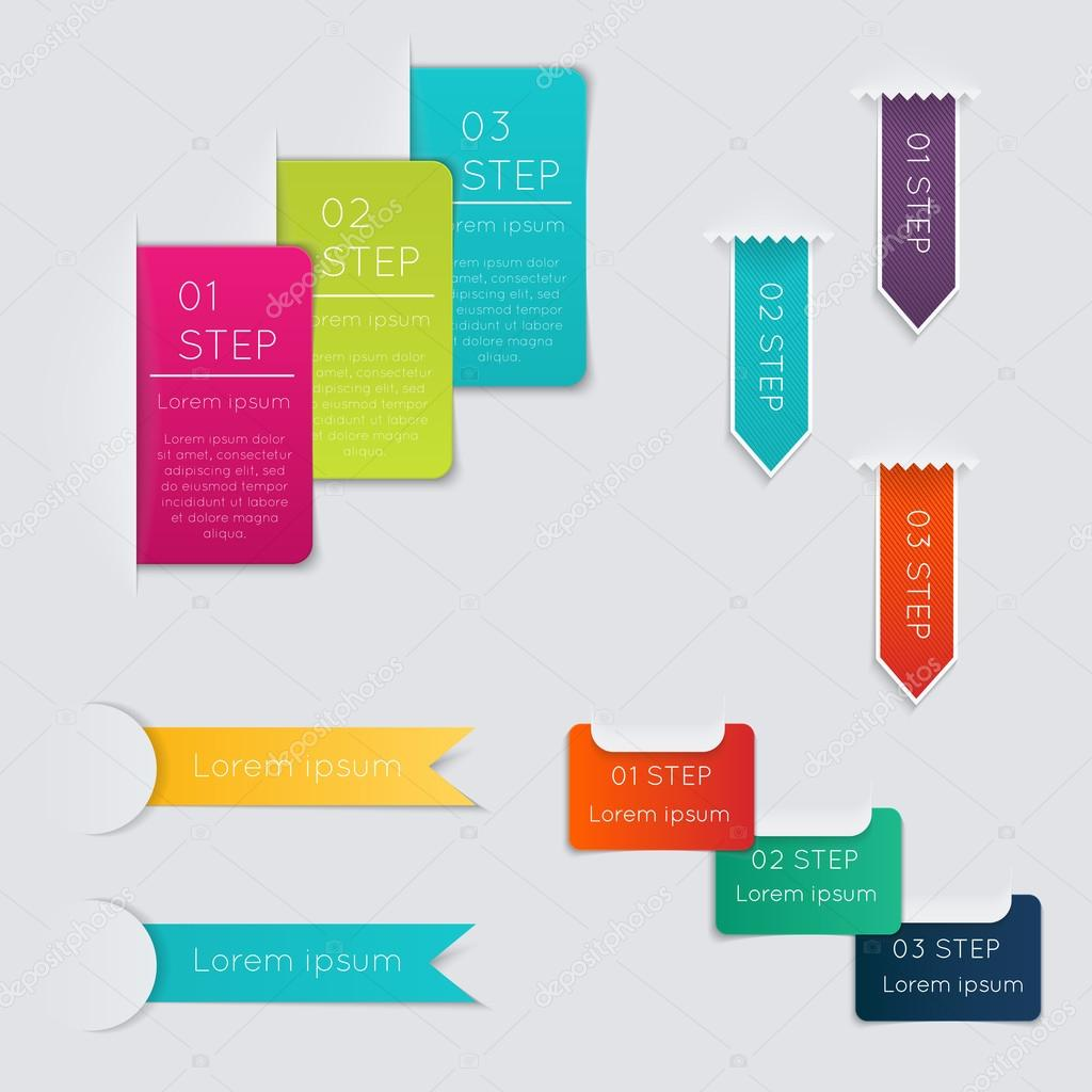 Colorful text box with steps