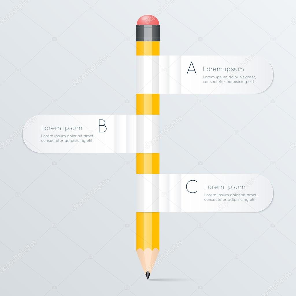 Template with pencil banner flow chart stock vector creative template with pencil banner flow chart can be used for infographics and banners concept vector illustration vector by gapchukolesia geenschuldenfo Choice Image