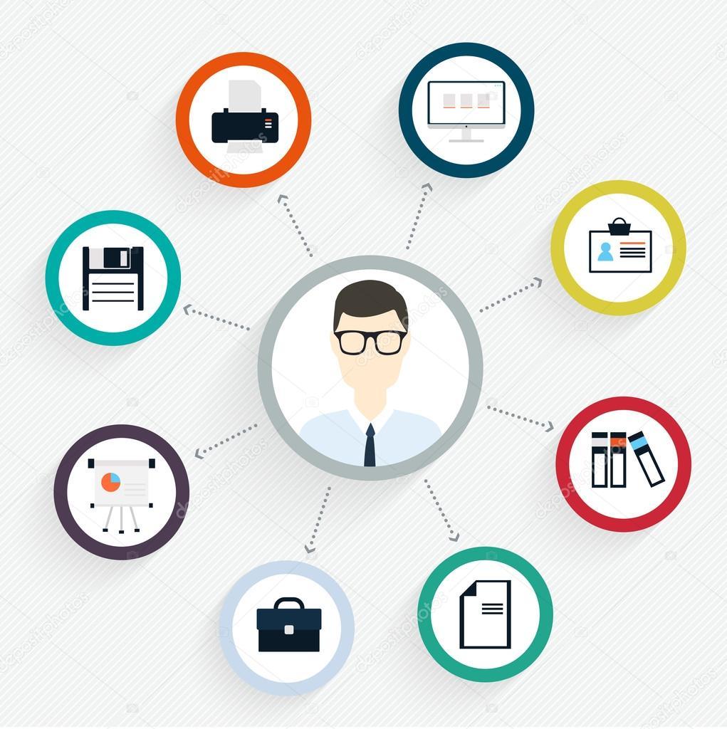 Flat customer office concept