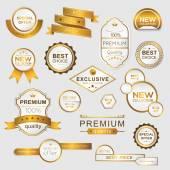 Kolekce zlatých promo samolepky