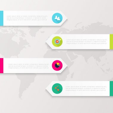 Colorful info graphics, trendy colors