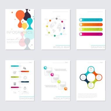 Set of Timeline Infographic Design Templates