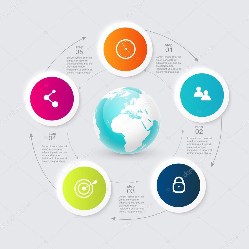infograf u00edas coloridas para presentaciones de negocios