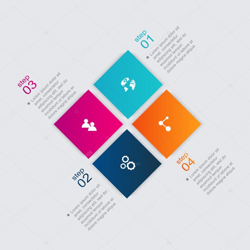 Colorful infographics for your business presentations