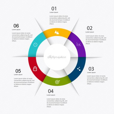 colorful infographics for business presentations