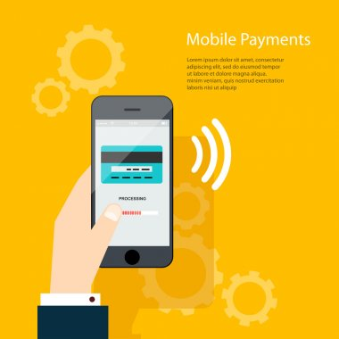 Mobile Payments on phone screen