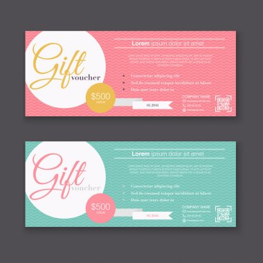 Gift voucher templates set or Gift certificates Backgrounds clip art vector