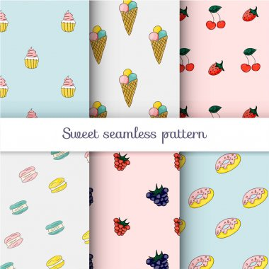 ice creams and berries patterns