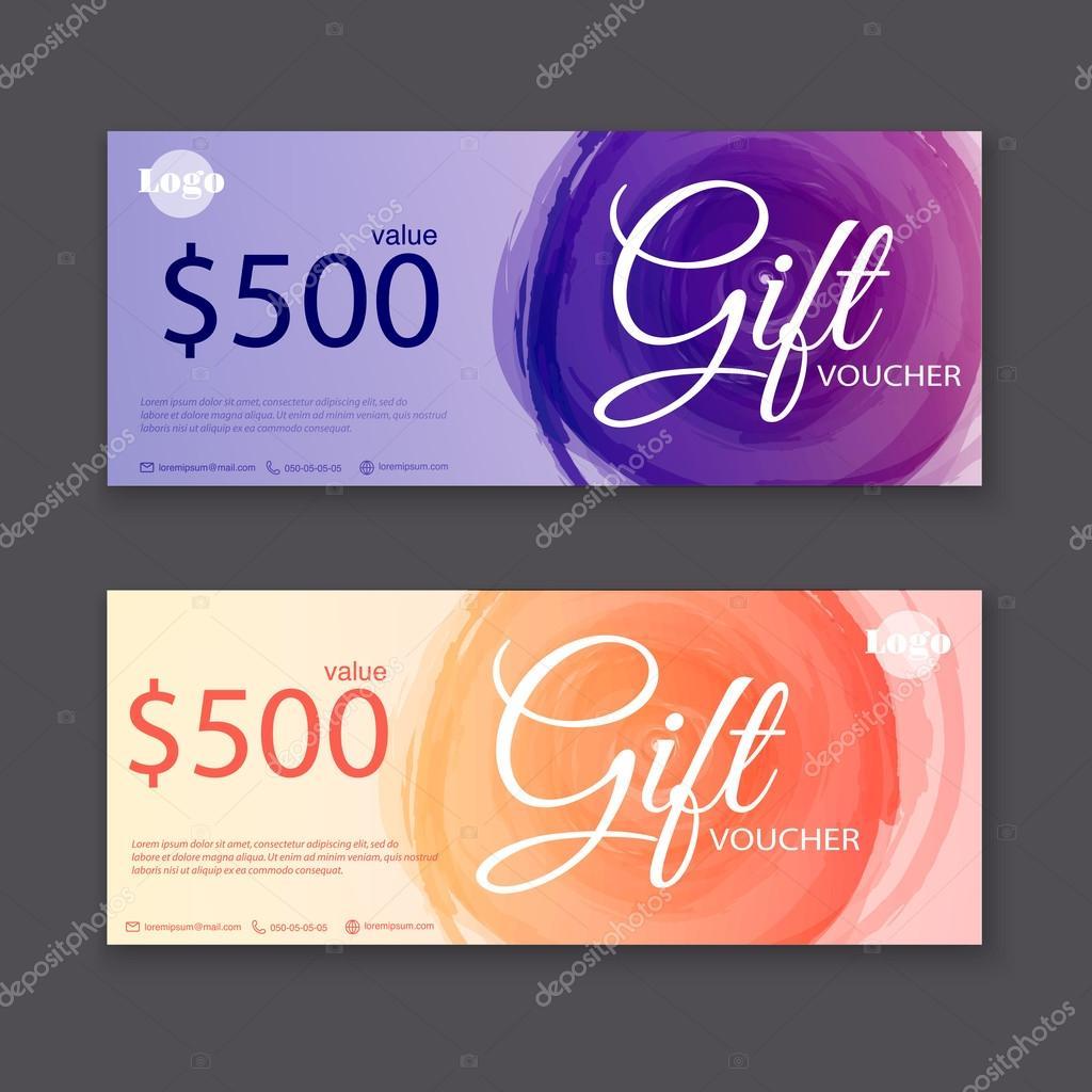 Gift vouchers templates — Stock Vector © Gapchuk_Olesia #93331110