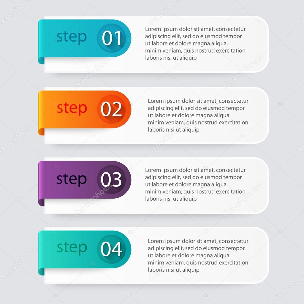 Info graphics for business presentations