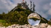 Fotografie Kristallkugel Alpenlandschaft am Wendelstein bei Bayrischzell, Bayern, Deutschland