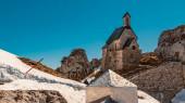 Fotografie Schöner alpiner Winterblick am berühmten Wendelstein-Gipfel-Ba