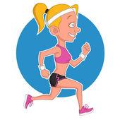 Fotografia ragazza che corre