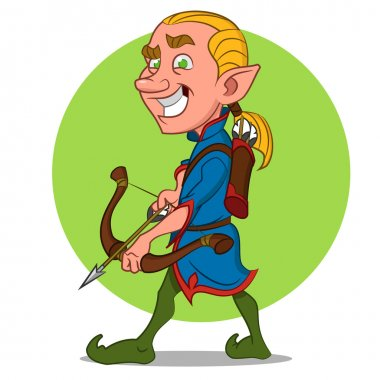Elf with bow and arrow.