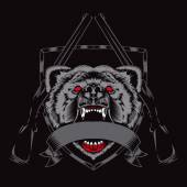Illustration of fury bear head.