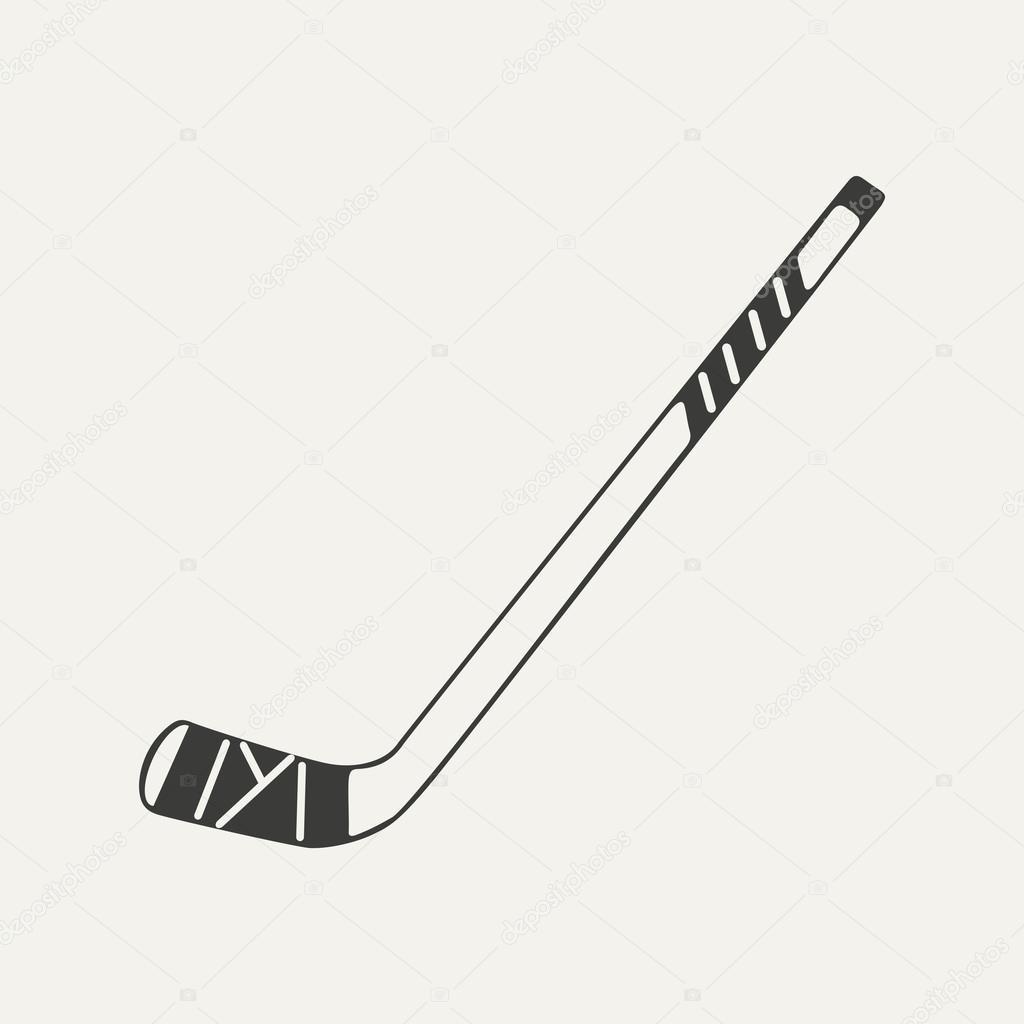Illustration of hockey stick black and white style stock vector julianna million 64684721 - Dessin de hockey ...