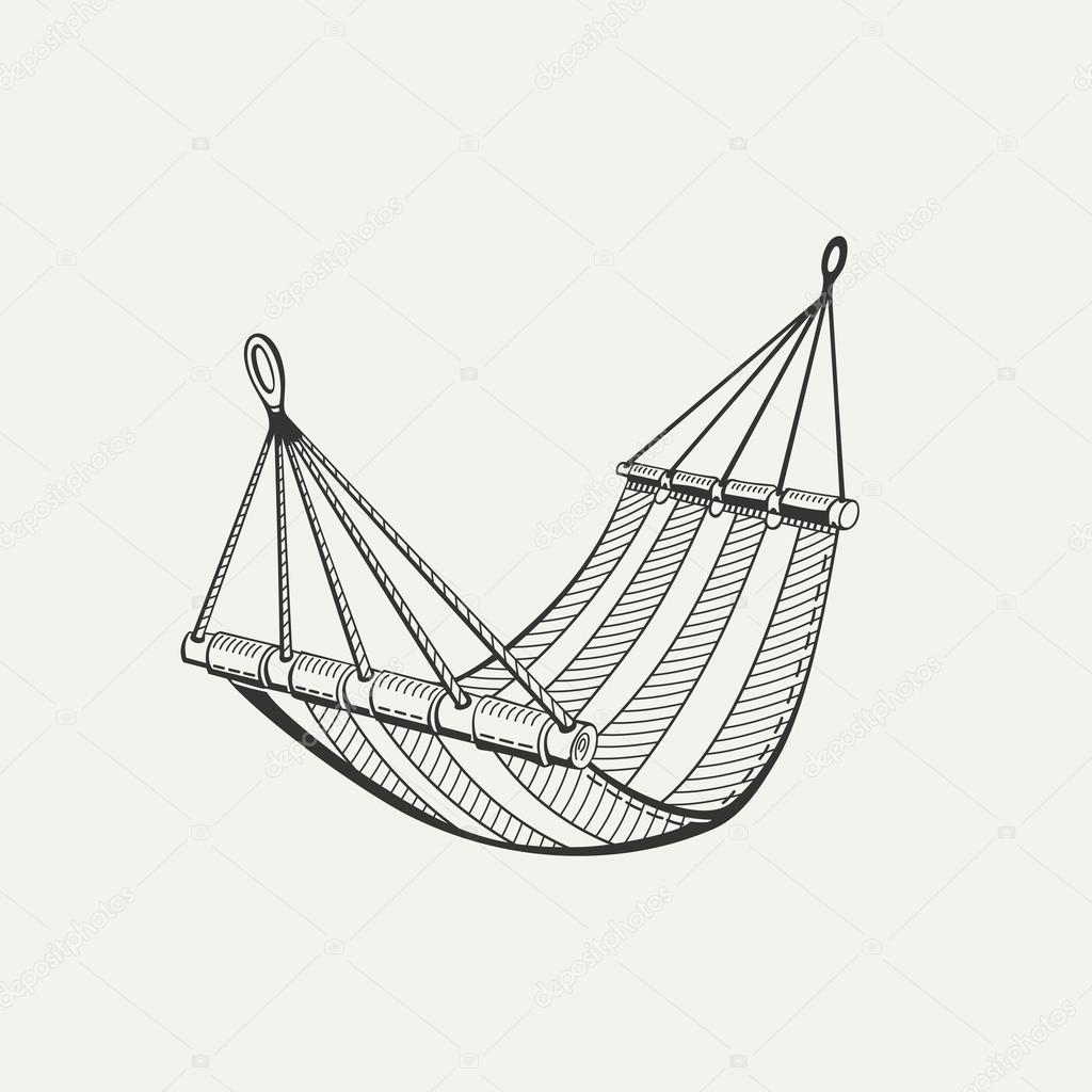 Illustration of hammock.