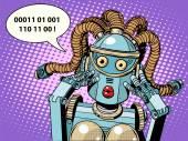 Fényképek woman robot surprised