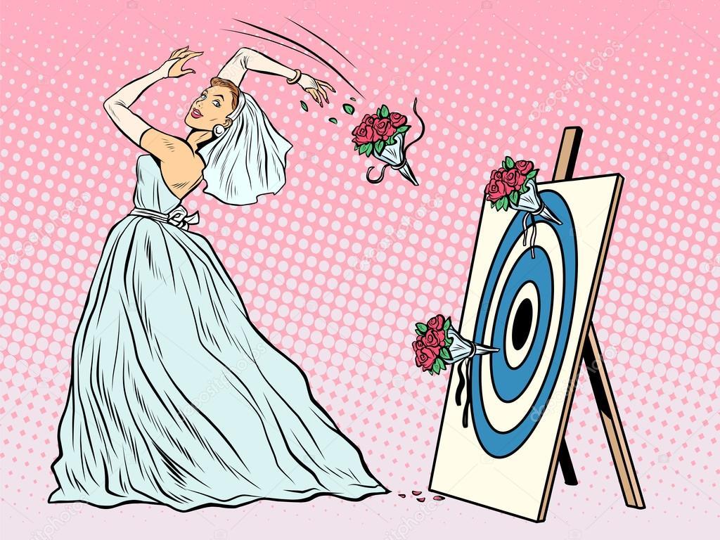 The Bride Bouquet Flower Girl Throws On Target Stockvektor
