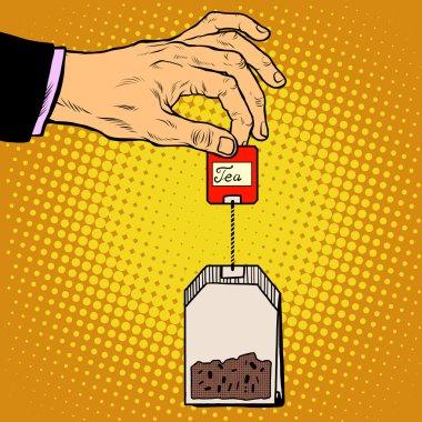 tea bag hand