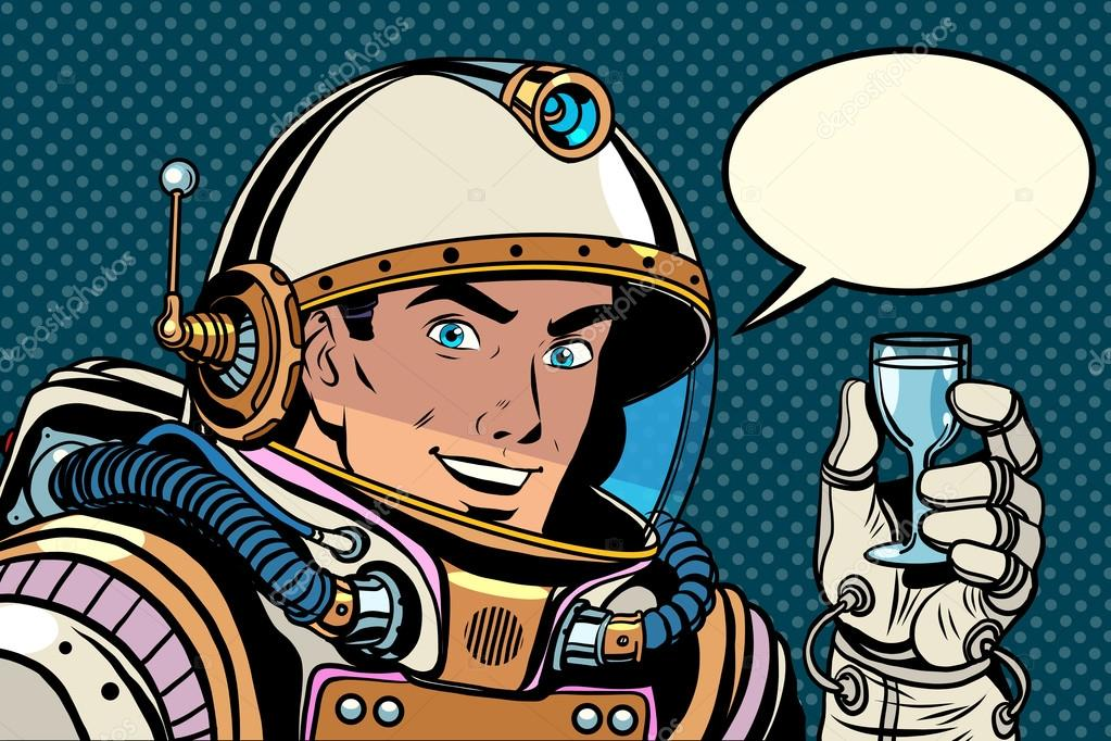 astronauts with ok symbol - 1100×733