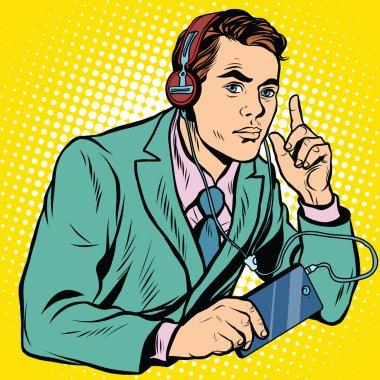 Retro radio operator