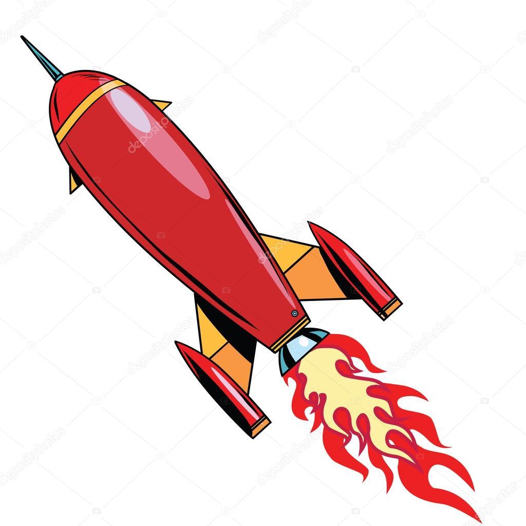 レトロ ロケットを急上昇します...