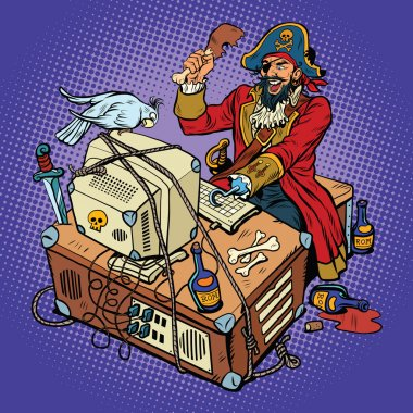 Software piracy, the hacker captain