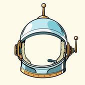 Raumanzug Helm isoliert auf weißem Hintergrund