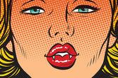 Vampir Mädchen Lippenkuss
