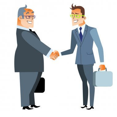 Business handshake deal. Finance and contract
