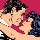 Fényképek Csók szerelem film romantikus hősök szerelmesek férfi és nő pop art comi