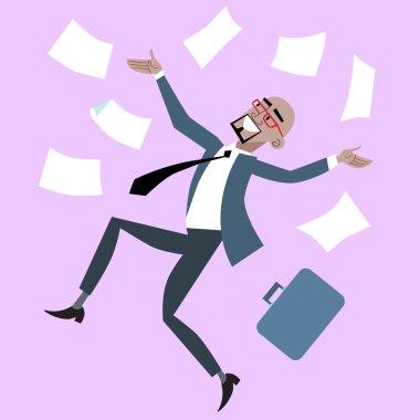 African businessman rejoices luck success