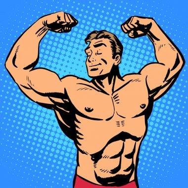 Bodybuilder muscle handsome athlete