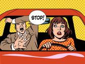 zastavit řidička řízení školy panika klid