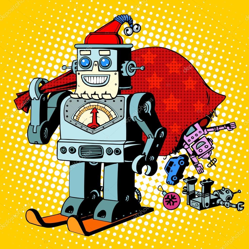 Robot Santa Claus Weihnachtsgeschenke humor Charakter Robosanta ...