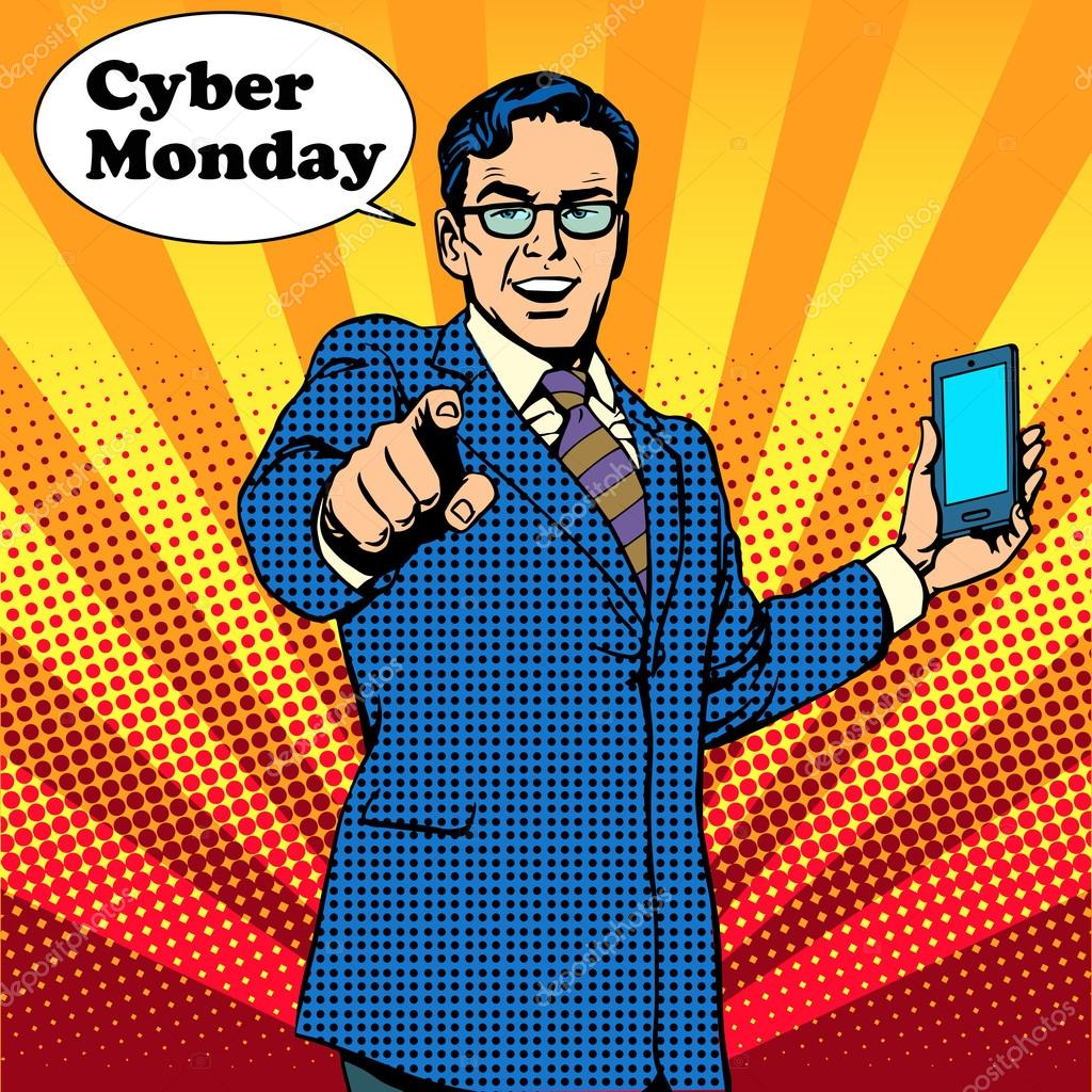 Cyber Monday the seller is encouraged to buy electronics