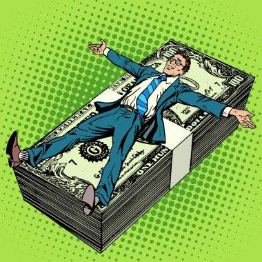 Business financial success concept businessman