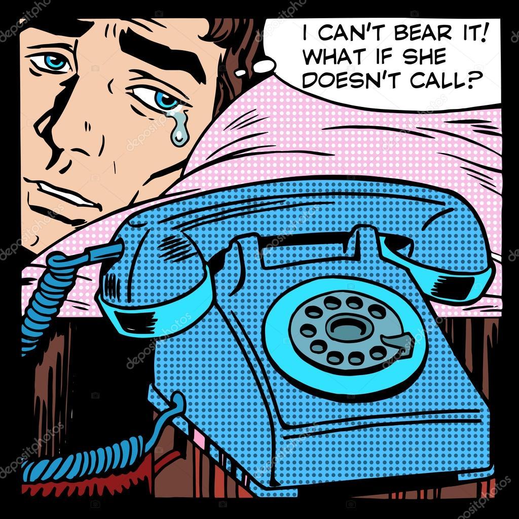 Resultado de imagem para imagem de um homem esperando um telefonema