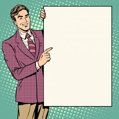 Businessman poster style your brand here