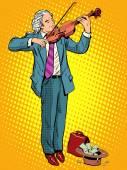 Straßenmusiker Violinist