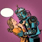 Fényképek Robot nő szerelem számítástechnika