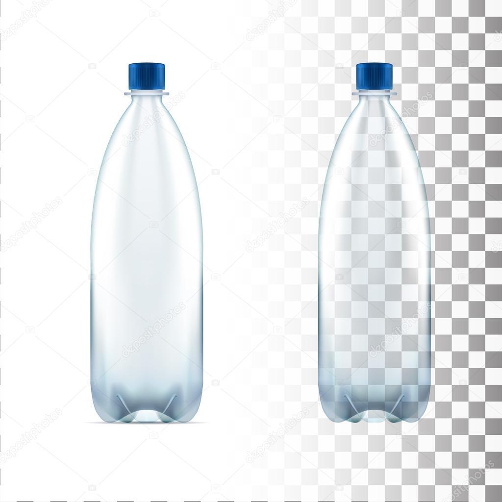 vecteur vide bouteille en plastique bleu eau transparente image vectorielle 112298650. Black Bedroom Furniture Sets. Home Design Ideas