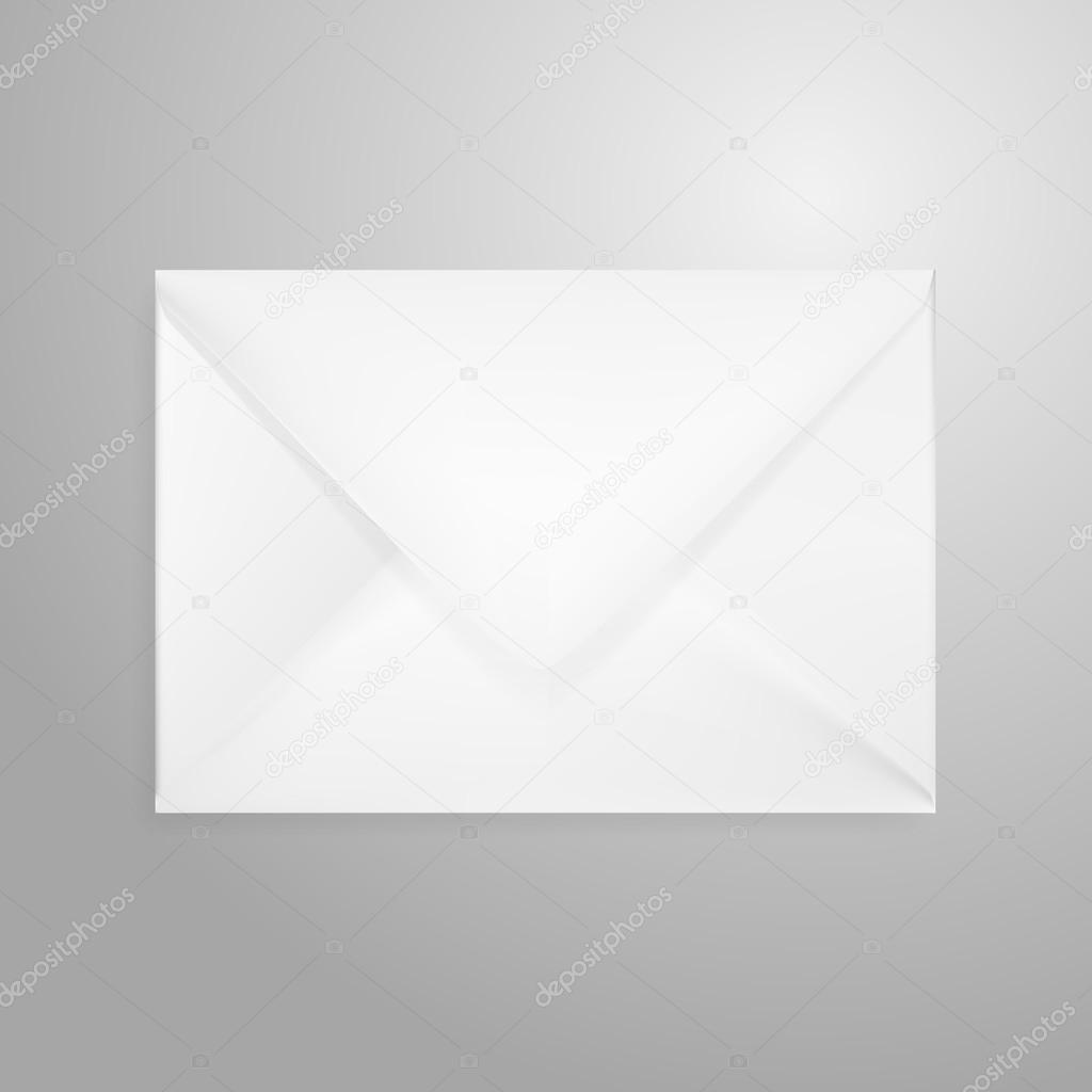open envelope letter isolated on white stock vector