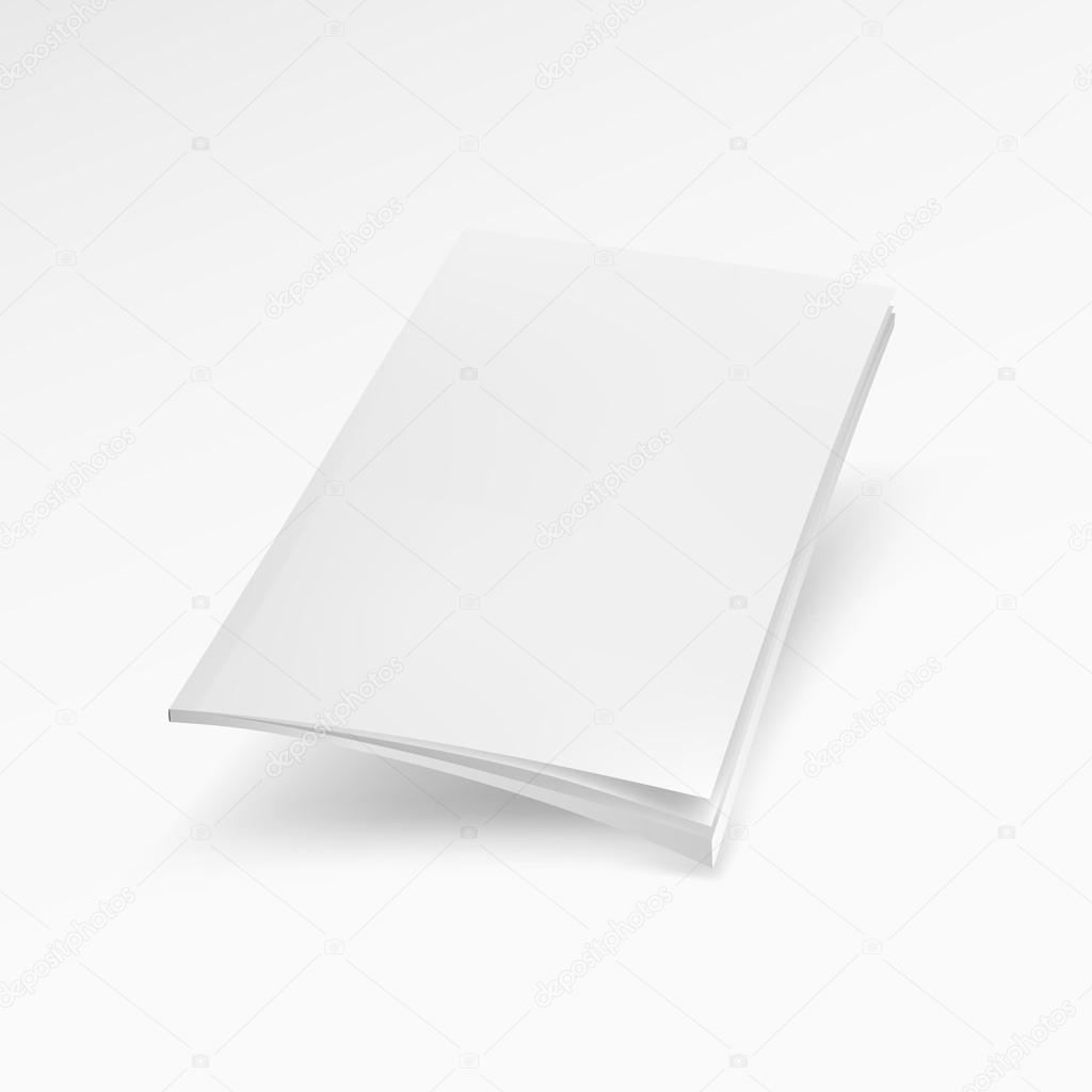 Leeres Deckblatt der Zeitschrift, Buch, Broschüre, Broschüre. Mock ...