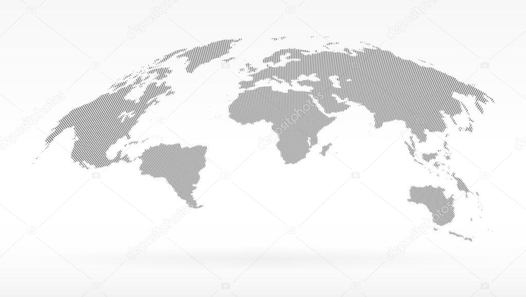 Simple black dots world map concept of infographics element trip simple black dots world map concept of infographics element trip around globalization gumiabroncs Gallery